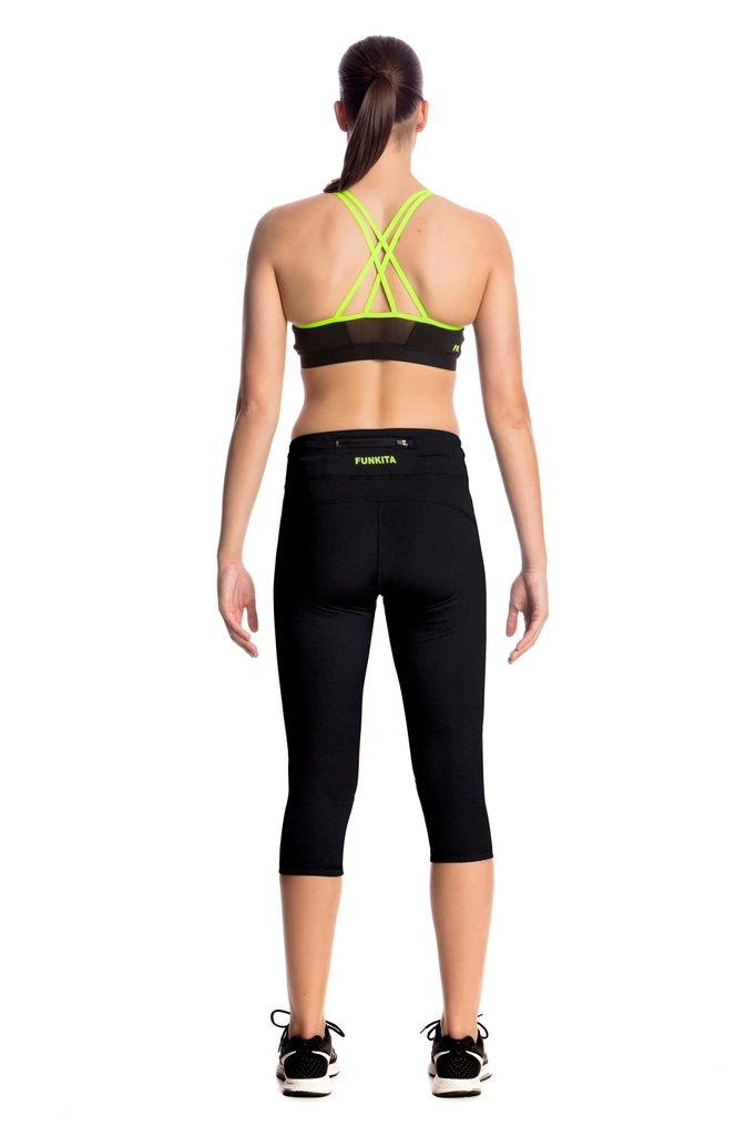 Sport Leggings Funkita Fit Rapid Racer Tight / Still Black