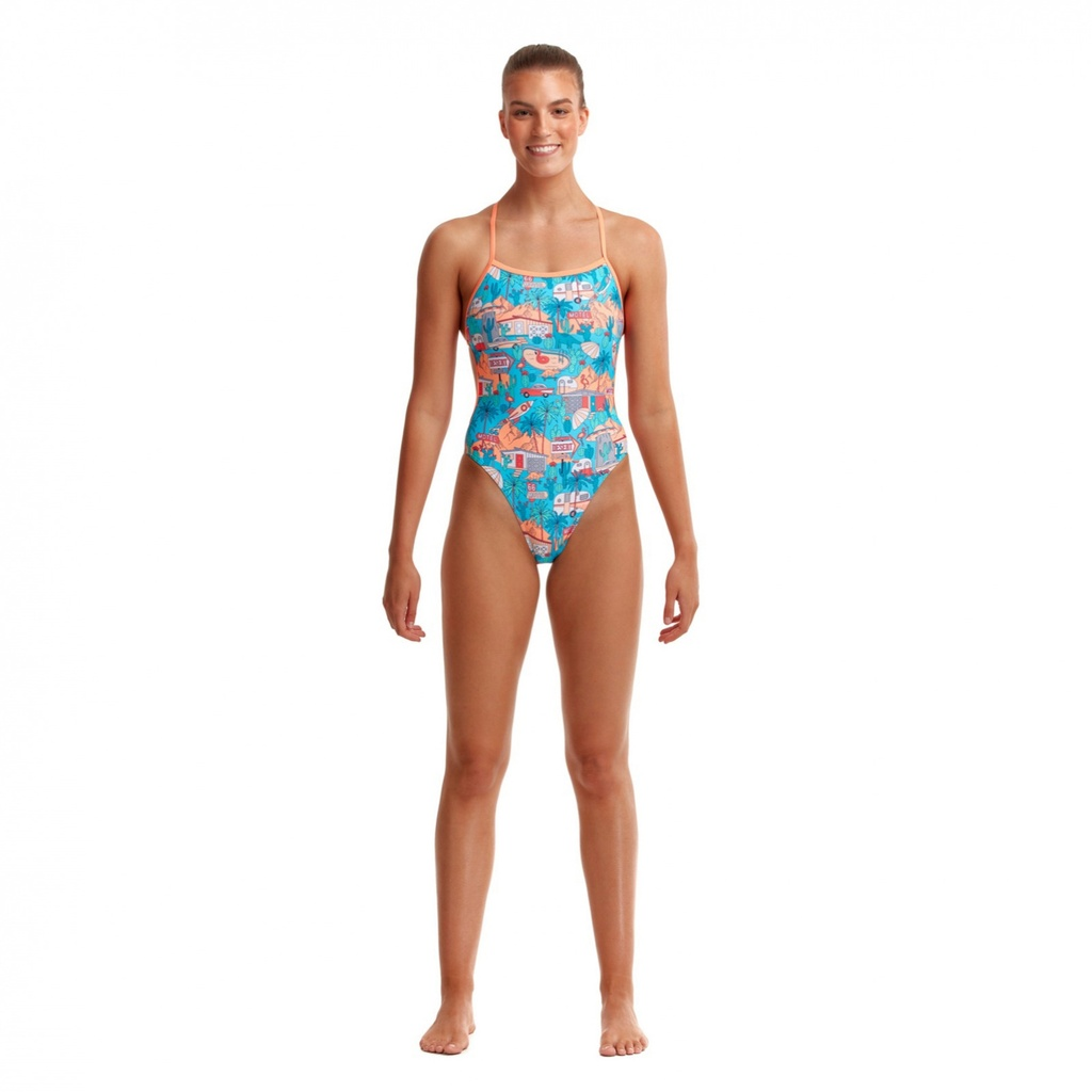 Badeanzug Funkita Ladies Twisted One Piece / Second Skin