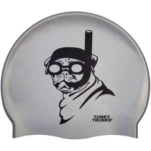 Badekappe Funky Trunks Silicone Cap / Snorkel Pug