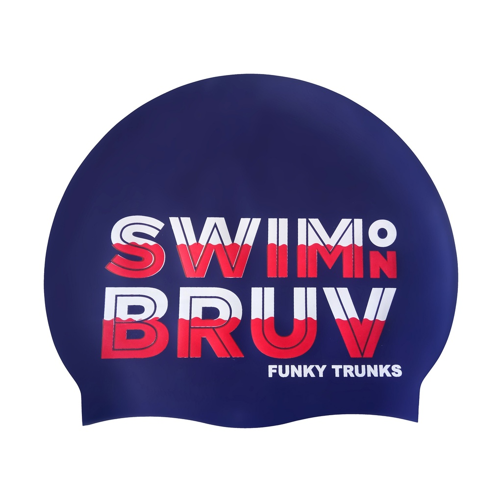 Badekappe Funky Trunks Silicon Cap / Swim on Bruv