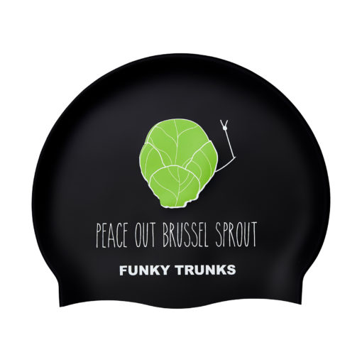 Badekappe Funky Trunks Silicon Cap / Peace Out