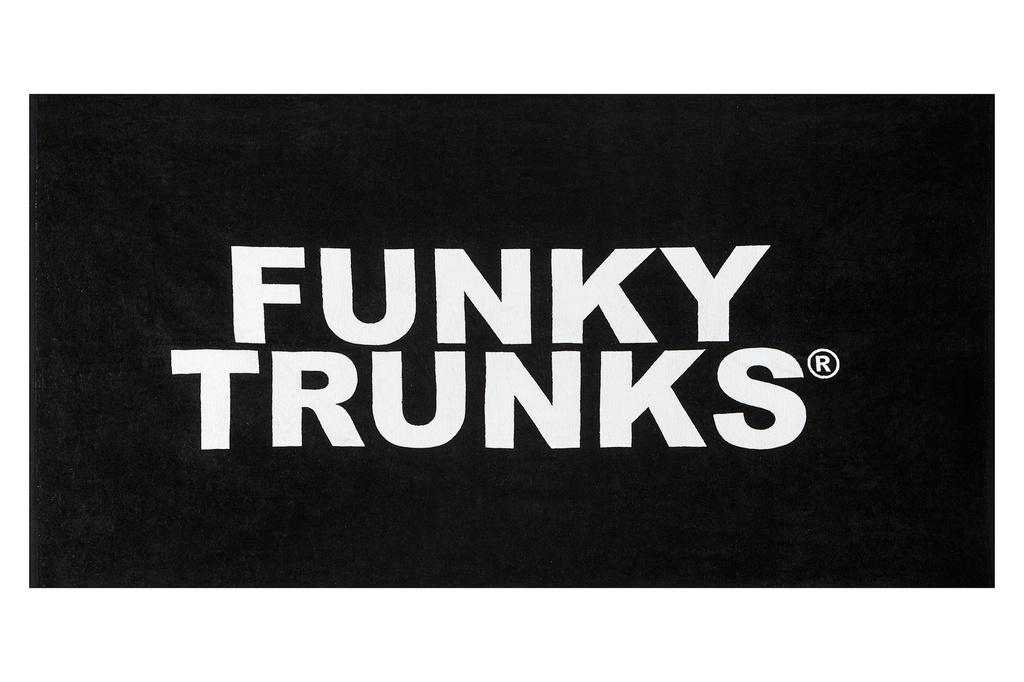 Handtuch Funky Trunks Towel / Still Black