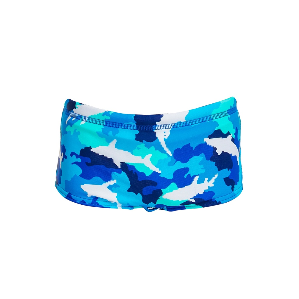Badehose Funky Trunks Jungs Printed Trunk / White Pointer