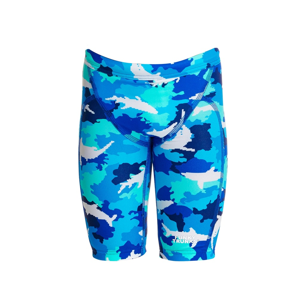 Badehose Funky Trunks Jungs Miniman Jammer / White Pointer