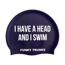 [FT9902232] Funky Trunks Silicone Swimming Cap Get a Head Badekappe