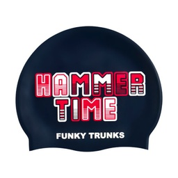 [FT9902097] Badekappe Funky Trunks Silicon Cap / Hammer Time