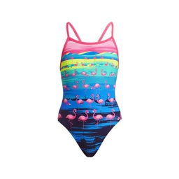 Funkita Mädchen Single Strap One Piece Flamingo Flood Badeanzug