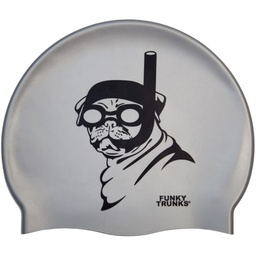 [FT9900455] Badekappe Funky Trunks Silicone Cap / Snorkel Pug