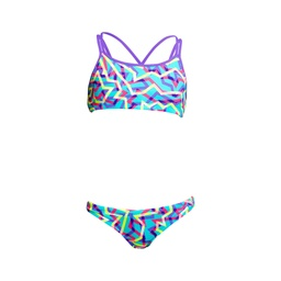 Bikini Funkita Girls Criss Cross Two Piece / Mint Strips